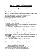 Class 2 Notes - Jan 22, 2014