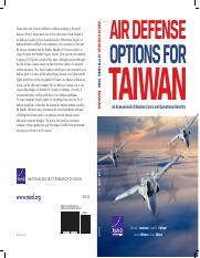 RAND_Air Defense Options for Taiwan