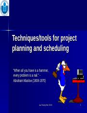 Chapter 8-Tools and techinque for project planning-scheduling