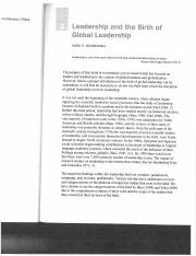 Mendenhall - Chap. 1 - Leadership and Birth of Global Leadership copy