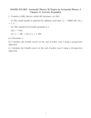 Math 472 Spring 2011 Chapter 8 Lecture Examples