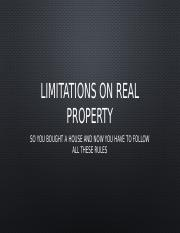 Limitations on Real Property.pptx