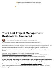 The 5 Best Project Management Dashboards, Compared.pdf