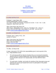 FIN 3403 - Tentative Syllabus - Spring 2010 Term[1]