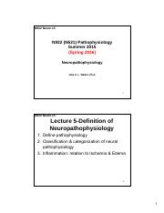 N932 SU2015 Sakai L5-Definition of Neuropathophysiology - Inflammation 2-Slide