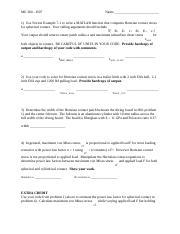 h07_solution pdf - ME 360 H07 Name 1 Use Norton Example 7-1