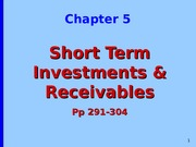 Chapter 5 Short Term Investments Powerpoint