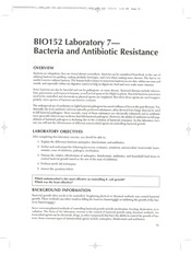 Lab 7 - Bacteria and Antibiotic Resistance
