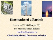 Chapter12-Kinematics of Particles