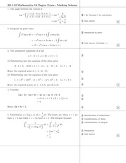 Answers to 1S Degree Exam 2012 (All Solutions)