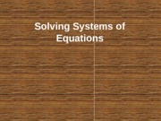 Solving Systems of Equations - Graphing