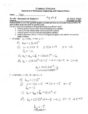Exam 1 - Answer Key