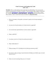 School Gov Study guide-2014 .doc