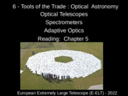 6 -Tools of the Trade - Optical Astronomy.ppt