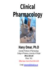 001 HS Clinical Pharmacology Introduction.pptx