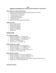 Notes Diagnoses & Therapeutics III RESPIRATORY DISORDERS TREATMENT 1