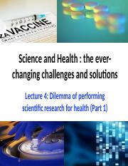 L4 Dilemma of performing scientific research for health (Part 1).pptx