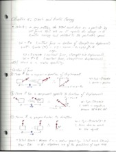 PHY2048 Physics 1, Chapter 6 Work and Kinetic Energy Notes