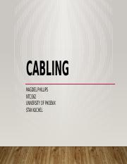 Cabling Week 2 Magdiel Phillips