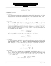 Solutions for final exam 2