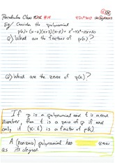 MATH 001 Fall 2013 Polynomial Examples Lecture Notes
