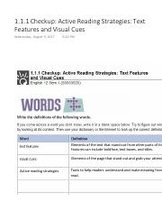 1.1.1 Checkup Active Reading Strategies Text Features and Visual Cues.pdf