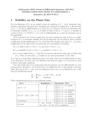 MATH 3F03 Fall 2013 Assignment 1 Solutions
