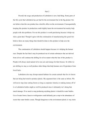 Enviromental ethics essay