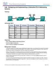 8.1.4.8 Lab - Designing and Implementing a Subnetted IPv4 Addressing Scheme.pdf