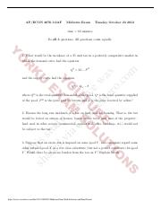2012 Midterm Exam With Solutions and Final Exam