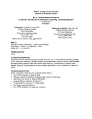 CLIN51504_Syllabus_Fall2011