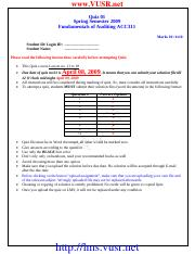 Fundamentals of Auditing - ACC311 spring 2009 Assignment 02 solution.pdf