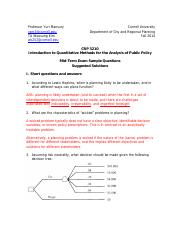 CRP 3210_Mid-term_Sample Questions_Suggested Solutions