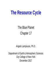 15 Resource Cycle