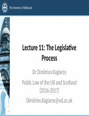 Lecture 11 - The Legislative Process slides
