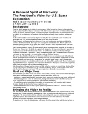 President.SpacePolicy.January.14.2004