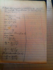 MATH 101 notes on finding equation of line