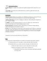 Sample Informative Outline