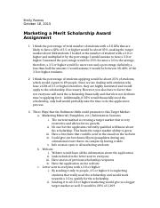 marketing merit scholarship assignment.docx