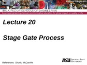 IEE 431-541 Lecture 20 Stage Gate Process(4)