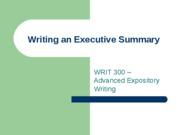 Writing an Executive Summary (1)