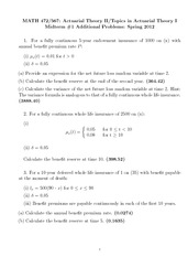 Spring 2012 Midterm 1 Additional Problems Solutions