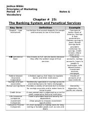 Chapter 25 The banking system and finatial sevices-Bibbs.doc