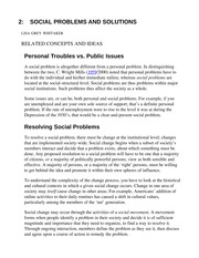 2- _SOCIAL PROBLEMS AND SOLUTIONS