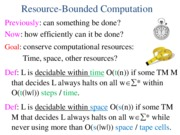 Resource-bounded computation