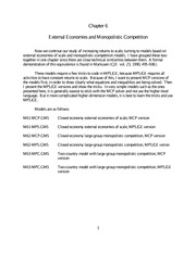 External Economies and Monopolistic Competition