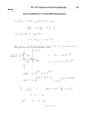 Second-Order Differential Equations-1