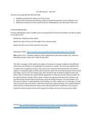 Law ISP Proposal and Annotated Bibliography  May 2017.docx
