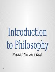 Introduction to Philosophy (2)