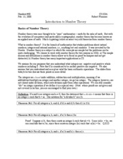 30 Introduction to Number Theory